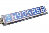 8 Digit SPI Seven Segment LED Display-Blue/ Red/ Yellow