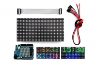 16x32 RGB LED matrix panel + Arduino driver shield