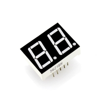 """0.56"""" Dual Digit Numeric Display - Red (Common Anode)"""