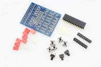 Push Your Pi ! 8 LED & 8 Button Breakout Board for Raspberry Pi