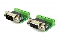 9Pin DB9 Solderless Terminal Female/ Male RS232 RS485 Adapter Connector