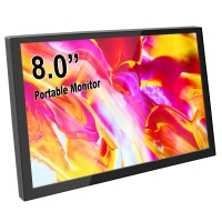 SH080 8 Inch Mini HDMI Portable LCD Display 1280x800 Resolution Monitor Built in Speakers