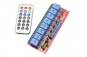 8 Channels Infrared Remote Control Relay Module for Arduino
