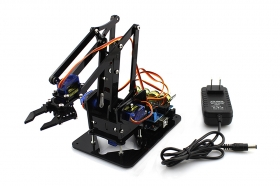 DIY 4DOF Acrylic Robot Arm with Power Supply(Parts)