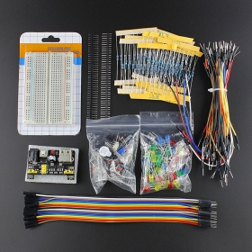 Elecrow Electronic Kit Bundle with Breadboard Cable Resistor, Capacitor, LED, Potentiometer