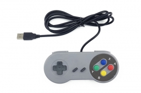 SNES USB Famicom Colored Super Nintendo Style Controller for PC/MAC/Raspberry pi