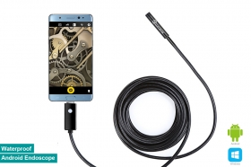 8mm Waterproof Android OTG Endoscope USB Inspection Snake Tube External Camera(5M)
