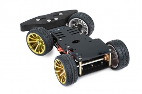 4WD RC Smart Car Chassis with S3003 Metal Servo & Bearing Kit for Arduino