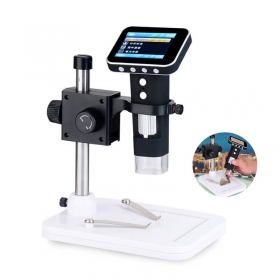500x Portable USB Digital Microscope with 2.4inch HD Screen Integrated Stand