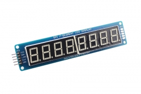 8 Digit SPI Seven Segment LED Display - Yellow Green