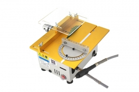 DIY Aluminum Miniature Table Saw with High Precision DC 24V 7000RPM