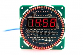 DIY Rotating LED Display Electronic Clock Module - Blue