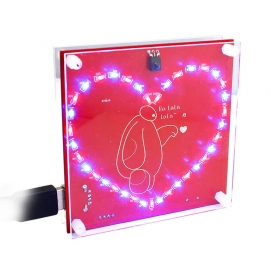 Music Remote Control Dazzling Heart Flow Lamp Programmable DIY Kit