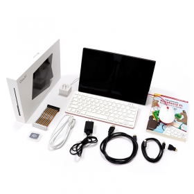 Raspberry Pi 400 Personal Computer Kit with CrowVi 13.3 inch Display (US Version)