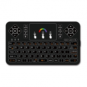 Raspberry Pi 3/2B/Zero Mini Portable 2.4GHz Wireless Touchpad Keyboard with Backlight