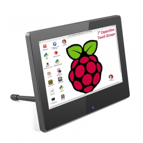 RC070P 7 Inch 1024x600 Raspberry Pi Monitor Touchscreen Capacitive IPS Display with Built-in Speaker & Stand
