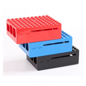 Shell with Cover Lego Compatible Case for Raspberry Pi 3 /Pi 2 Model B/B+