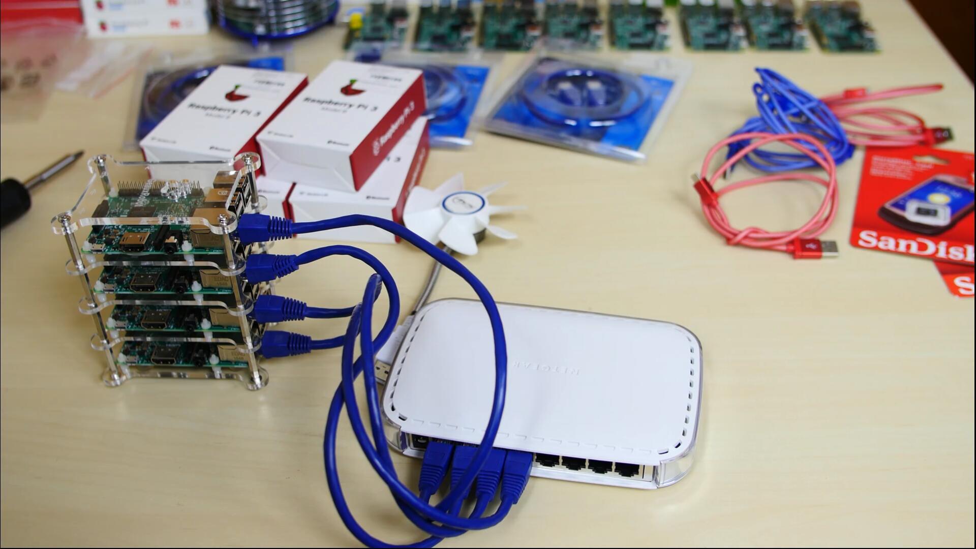 4 node Raspberry Pi Cluster