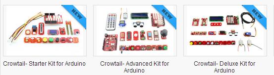 Crowtail-Starter kit to Advanced kit to Deluxe kit