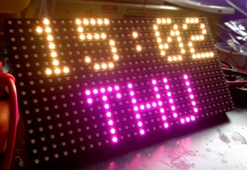 16x32 RGB matrix display