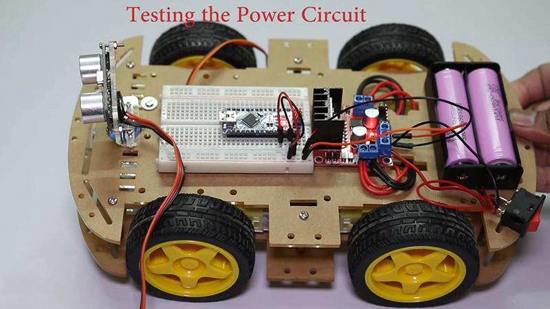 arduino obstacle avoiding robot