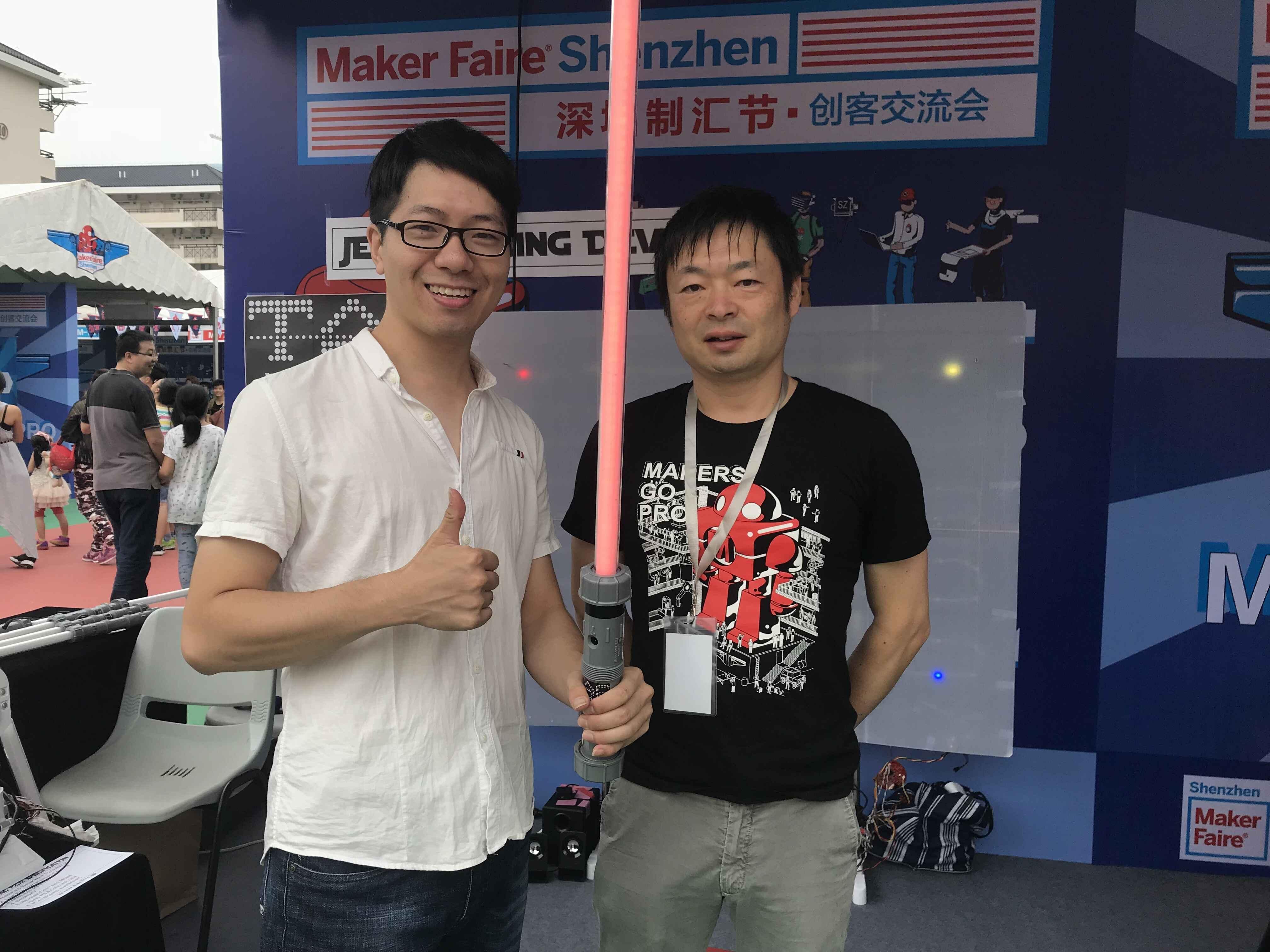 Elecrow Mike and TAC CEO Toru Takagaki