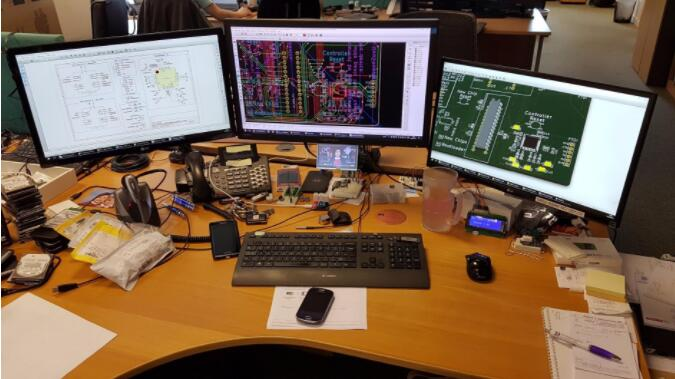 PCB designer Use Raspberry Pi monitor watch tv