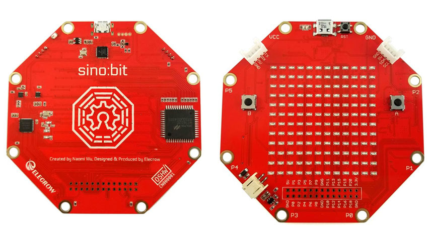 Sino:bit is a single-board microcontroller for computer education in China.