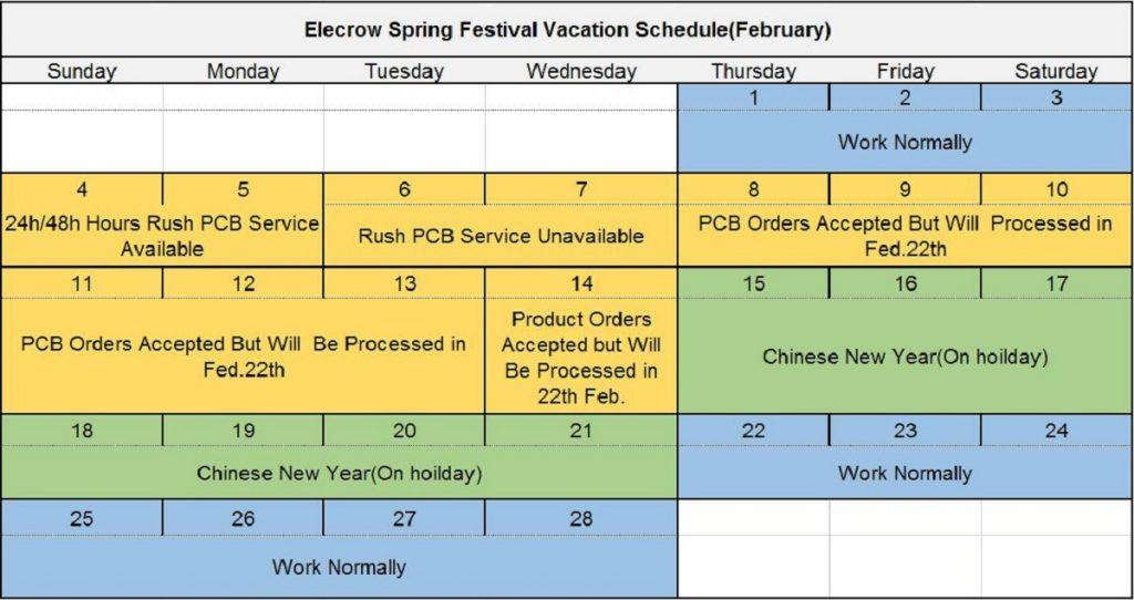 Elecrow_Spring_festival_Vacation_Schedule