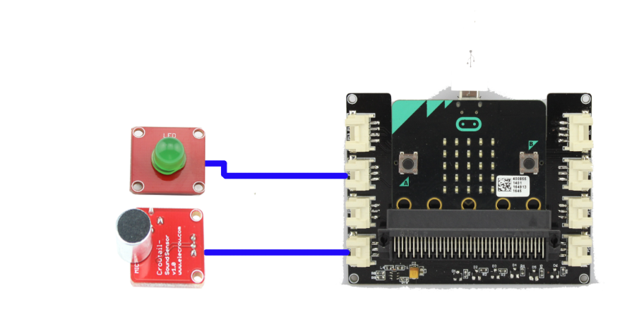 Elecrow micro:bit project with Crowtail - sound detection