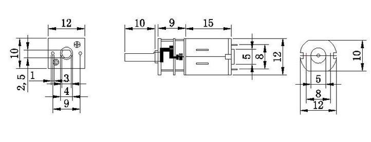 Gear motor N20-6V 60RPM