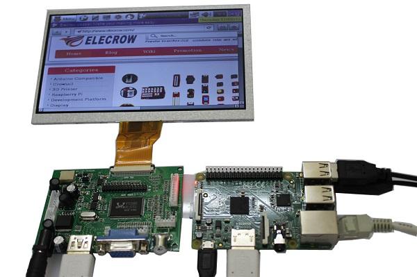 7 Inch 800x480 TFT Display for Raspberry Pi B+ Pcduino Banana Pi
