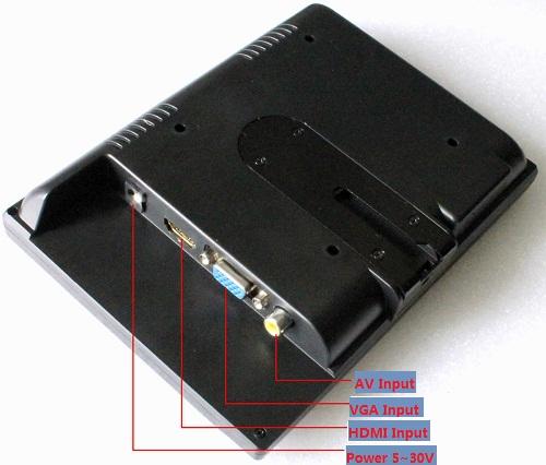 7''1280x800 HDMI/VGA/PAL Display