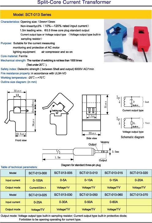 Non-invasive AC Current Sensor-100A - Elecrow