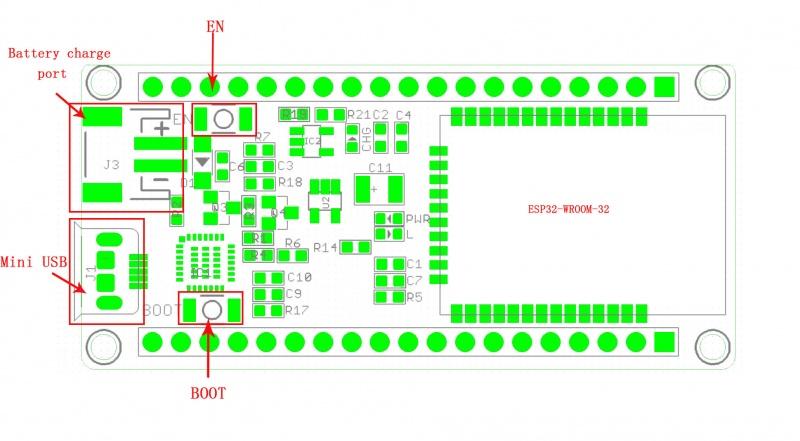 ESP32 WIFI/BLE Board v0 9 - Elecrow