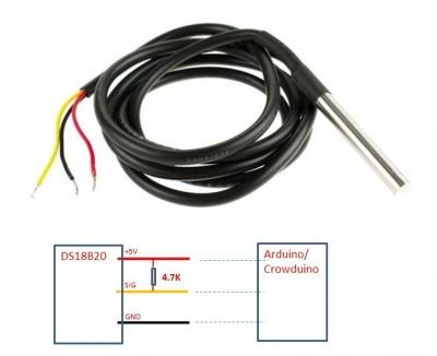 One Wire Waterproof Temperature Sensor